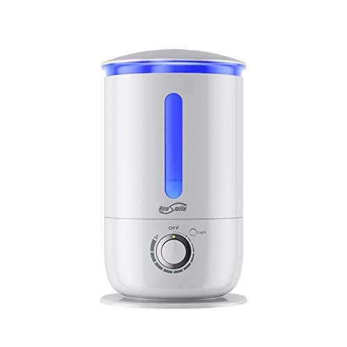 Housmile Humidificador de 3.5L,Depósito de Agua de Gran Capacidad para Hogar, Oficina, Dormitorio-Blanco