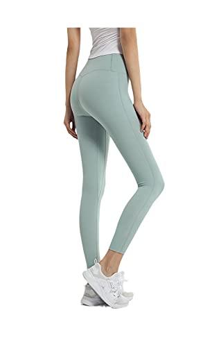 Leggings De Gimnasio De Cintura Alta,Correr Pantalones de Aptitud Fitness Quick Seco...