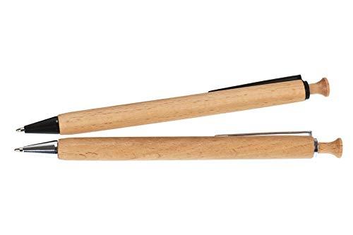 Holz-Kugelschreiber mit individueller Gravur (Motiv + Text) | hell oder dunkel (Buche - einzeln)