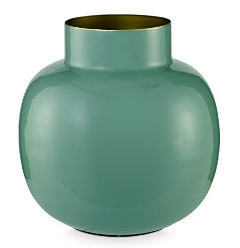 Essenza Home Pip Studio 26-51102011 Blushing Birds - Vaso rotondo in metallo, 25 cm, colore: Verde