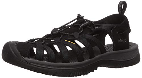 KEEN Women's Whisper Sandal, Black/Magnet, 7.5 M US