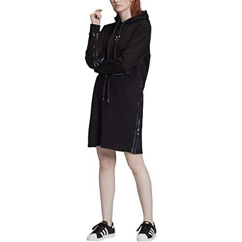 adidas Originals Women's Dress Hoodie Chinese New Year, black/White/Multi, L