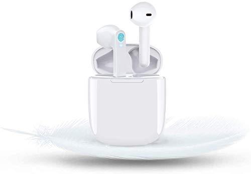 Auriculares Bluetooth, Auriculares Inalámbricos, Micrófono Incorporado y Caja de Carga, Reducción de Ruido Estéreo 3D HD, Para Android/Samsung/Huawei