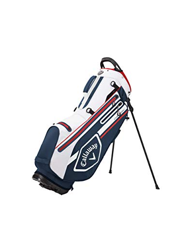 Callaway Golf Unisex's 2021 Chev Dry Stand Bag, Navy/White/RED, One Siz
