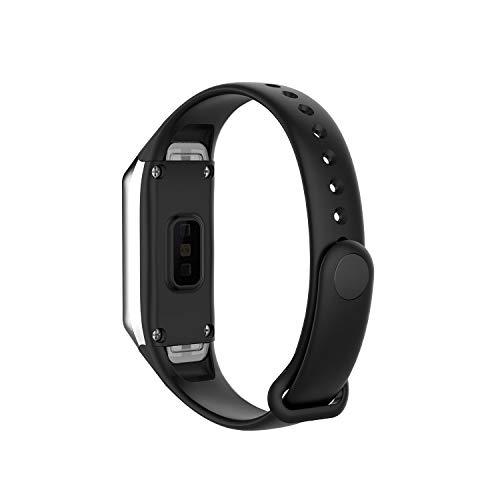 Ysang Soft Silicone Uhrband Kompatibel mit Garmin Samsung Galaxy Fit SM-R370 Laufuhr