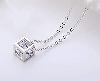 A Diamond In The Middle Of the Cube Necklace For Women