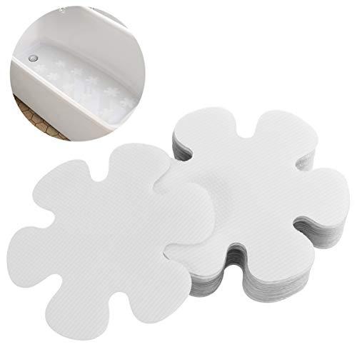 OUNONA 20pcs Adhesivos para bañera Antideslizante Pegatinas Ducha Bañera Etiqueta PEVA Seguridad Baño Ducha Huellas 10 CM (Transparente)