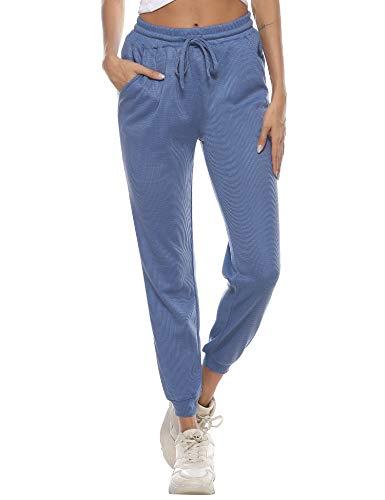 Sykooria Pantaloni Sportivi Donna Pantalone Jogger con Tasche Pantaloni da Tuta Donna Larghi Sciolto da Piede del Fascio