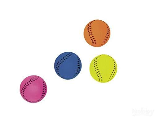 Nobby Ball Fußball-Moosgummi für Hunde NEON farblich 6cm
