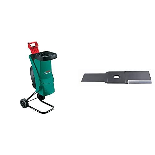 Bosch Häcksler AXT Rapid 2200 (2200 Watt, Materialdurchsatz 90 kg/h, max. Schneidekapazität-Ø 40 mm, im Karton) & Ersatzmesser für AXT Rapid 2000/AXT Rapid 2200
