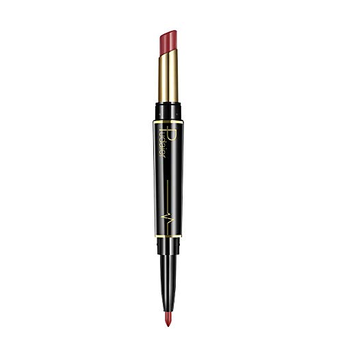 TOWAKM Lippenstift,Dauerhafter Lipliner Lip Liner Stift Mit Bleistift in 16 Farben