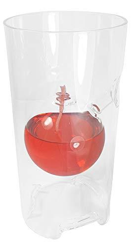 Oberstdorfer Glashütte Öllampe mit Windschutz modern Glaslampe Zylinder Petroleumlampe mundgeblasene Tischdekoration Höhe ca. 16,5 cm und Durchmesser 7 cm