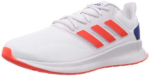 adidas RUNFALCON, Zapatillas de Running para Hombre, FTWR White/Solar Red/Dash Grey, 41.33 EU