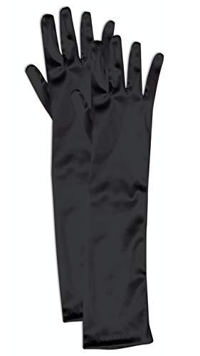 Forum Child Opera Satin Gloves, Black
