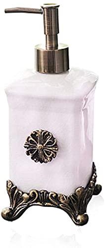 Bomba de jabón de mano líquida, botella de prensado de cerámica, botella de loción premium de Hotel para el hogar, dispensador de loción de 500 ml, dispensadores de jabón