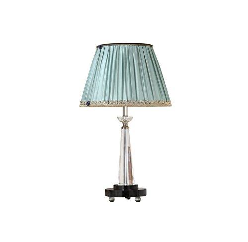 JPVGIA Lámpara de mesita de noche de la sala de estar iluminación interior de la sala creativa lámpara de mesa de cristal azul