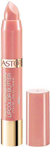 Astor Soft Sensation Lipcolor Butter, 002 Loved up, pflegender Lippenstift, 1er Pack (1 x 5 g)