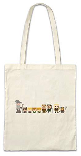 Urban Backwoods Pixel Fellowship Hipster Bag Beutel Stofftasche Einkaufstasche