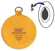 The Disc Plate Hanger Company Lot de 6 disques de 5,2 cm pour assiettes jusqu'à 15,2 cm de diamètre