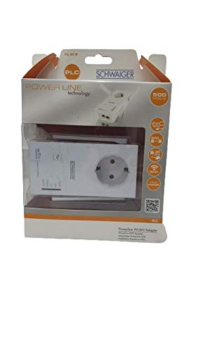 Adattatore di rete con presa Powerline WLAN, adattatore WiFi max. 500 Mbit/s