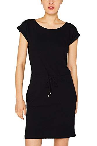 ESPRIT Damen 049EE1E004 Kleid, Schwarz (Black 001), Small (Herstellergröße: S)