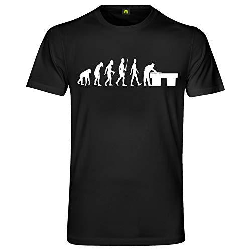 Evolution Billard T-Shirt | Billiards | Poolbillard | Snooker | Queue | Game Schwarz 2XL