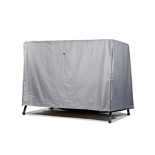 Premium Schutzhülle für Gartenschaukel/Hollywoodschaukel aus Polyester Oxford 600D - lichtgrau - von 'mehr Garten' - für 3,5-Sitzer (Breite: max. 250cm)
