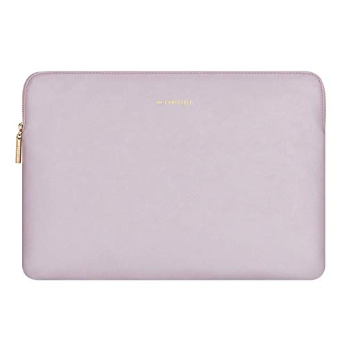 Comfyable Laptop Sleeve 13-13.3 inch for MacBook Pro & MacBook Air, PU Leather Waterproof Cover Notebook Case for Mac, Purple