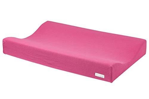 Meyco 2763033 2-Keil Wickelauflagenbezug Wickelkissenüberzug gestrickt KNIT Bright Pink 45x70 cm