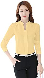 Long Sleeve solid Soft Blouse For Women