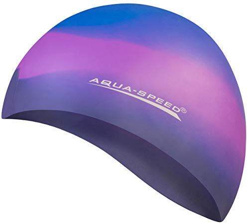 Aqua Speed Bunt Cuffia di Bagno + Piccolo Asciugamano in Microfibra   Colorato   Silicone   Cappellino di Nuoto   23. colorato / 71