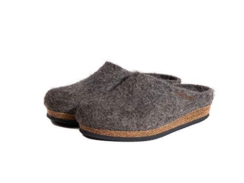 Stegmann 108 Natur - Komfort Filzclog mit Korksohle aus der Wolle des Tiroler Steinschafes in grau, Größe 41 EU