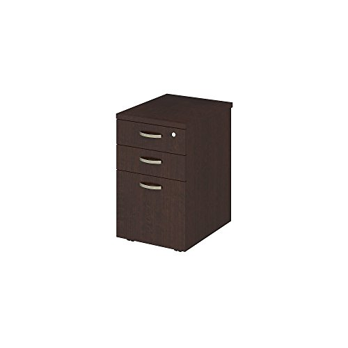 Bush Business Furniture Easy Office 16W Mobile File Cabinet in Mocha Cherry