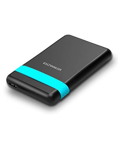 [ UASP & 2TB ] Yottamaster 2.5 Pulgadas Caja Disco Duro Externo USB 3.0 para SATA HDD/SSD de 7mm 9.5mm Sin Herramientas