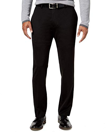 Alfani Mens Travel Essentia Casual Trousers, Black, 32W x 30L