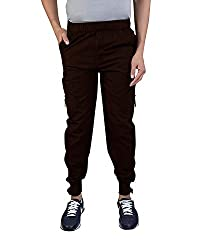 CAPE9 Premium Quality Casual Cargo Stylish Joggers Relaxed Fit with 6 Pockets for Men - Free Size fits All
