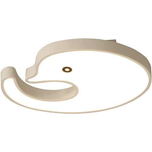 XXYHYQHJD Jardín de Infancia LED 20W lámpara de Techo Elegante Creativo Salón Comedor Dormitorio Estudio de Techo L50cm * W40cm luz Blanca 55 Colgante de luz