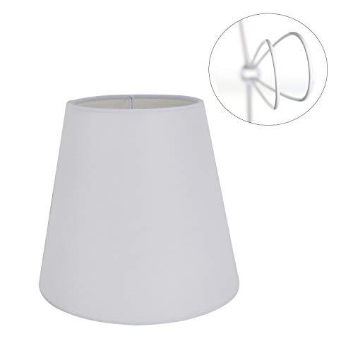 Eastlion - Juego de 6 pantallas de lámpara con rosca E14 para lámpara de araña (6 unidades), cristal, Clip en blanco 1 paquete, (Top)3.5 x(Bottom)5.5 x(Height)5.1 inch