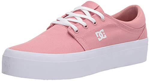 DC Women's Trase Platform TX Skate Shoe, Blush, 7.5 B M US