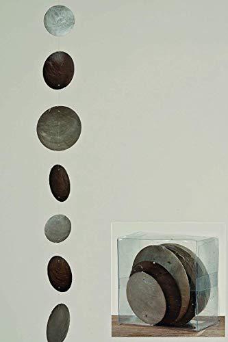 Boltze Hänger, Girlande Capiz Country in grau aus Perlmutt, Länge ca. 180 cm