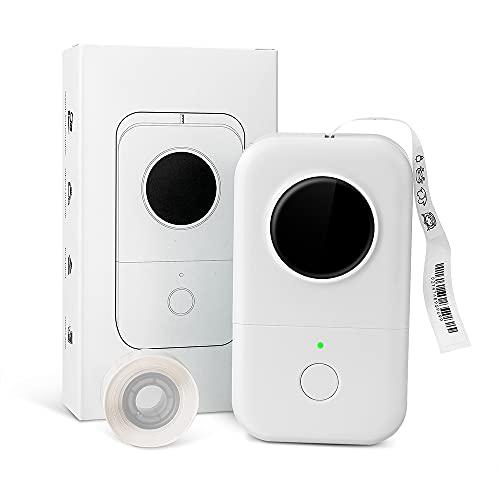 Phomemo D30 Etikettendrucker-Inkless Sticker Machine Thermoetikettendrucker Prägnantes Design Aufkleberdrucker für Preis Name Dokument Schmuckdrähte, kompatibel mit iOS Android, Weiß