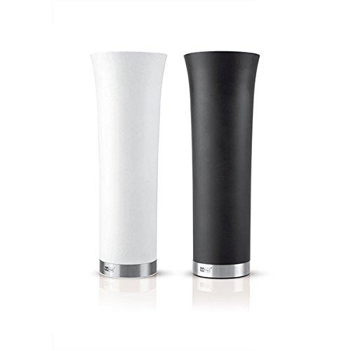 AdHoc Elektronische Pfeffer- und Salzmühle Set MILANO weiß/schwarz (Ø6,5x20cm; 2-teilig bestehend aus EP45 + EP46)
