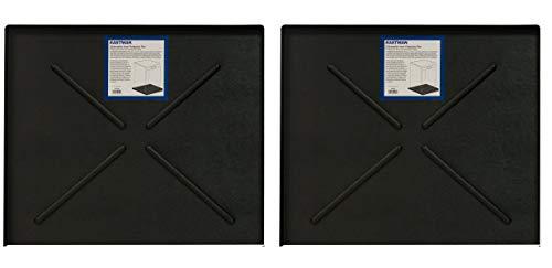 Eastman EZF70486 70486 Dishwasher Pan, 24.5' x 20.5', Black (Pack of 2)