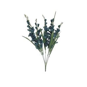 26″ Bouquet Royal Blue Gladiolus Bush Artificial Silk Flowers LivePlant