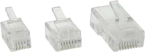 InLine® 73018R Modularstecker, 8P8C RJ45 zum Crimpen auf R&kabel (ISDN), 10er Pack