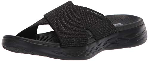 Skechers Damen On-The-go 600 Sandalen, Schwarz (Black Textile BBK), 38 EU