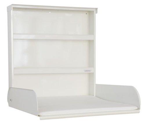 byBo design - Cambiador para bebés (metal, con estantes y esterilla), color blanco
