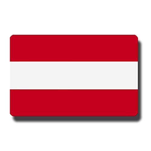 Kühlschrankmagnet Flagge Österreich - 85x55 mm - Metall Magnet mit Motiv Länderflagge