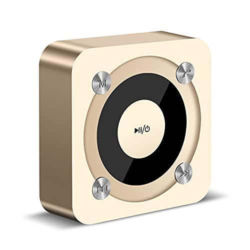 Mingfei Bluetooth Speak speaoth súper portátil con Tiempo de Juego de 6 Horas, bajo Mejorado, micrófono de cancelación de Ruido.Bluetooth Speakerphone, para Oficina en casa - Oro Rosa