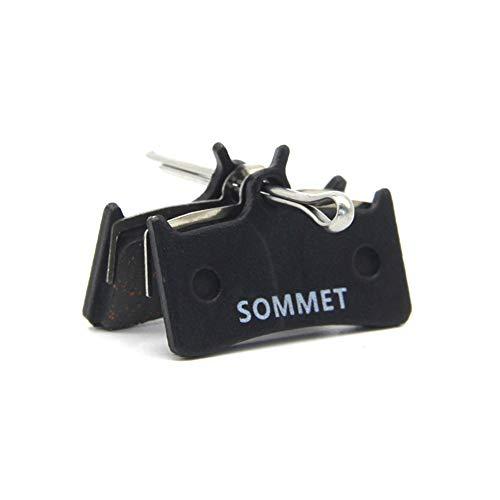 SOMMET Pastillas Freno Disco Semi-metálico para Shimano XT M775 / M775-DH/XTR Pre-02 / Grimeca System 8 / Hope M4 / Sram 9.0